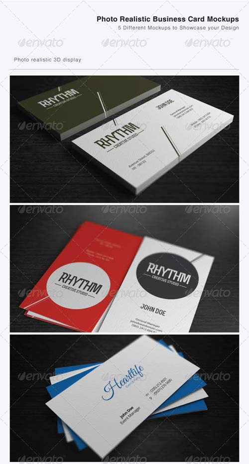 GraphicRiver Photo Realistic Business Card Mockups