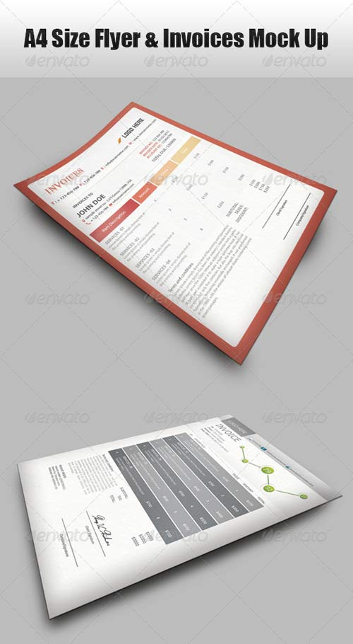 GraphicRiver A4 Size Flyer Mock-Up