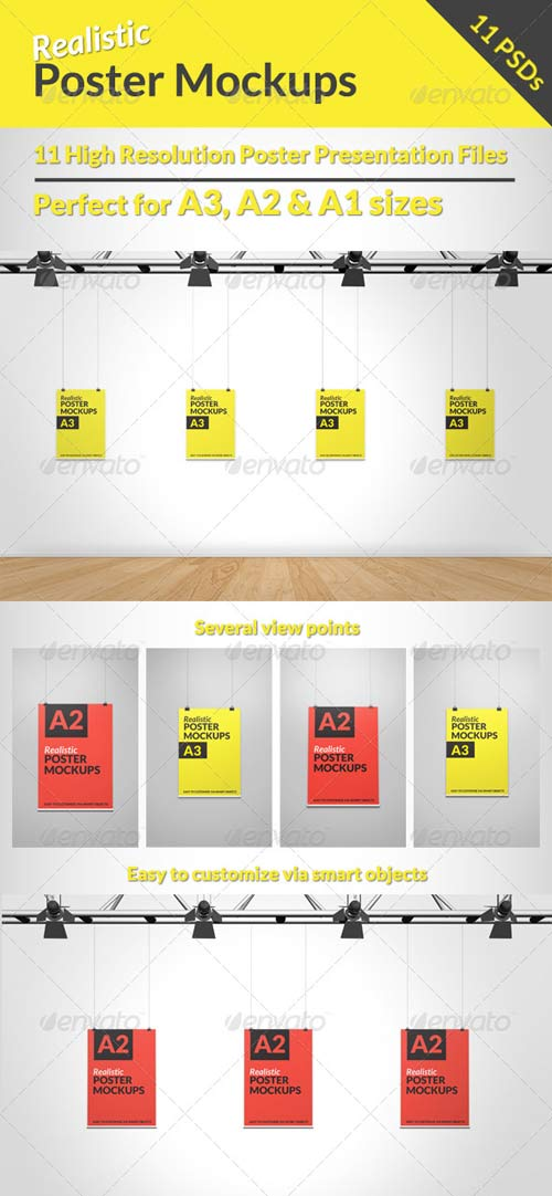 GraphicRiver Realistic Poster Mock-ups