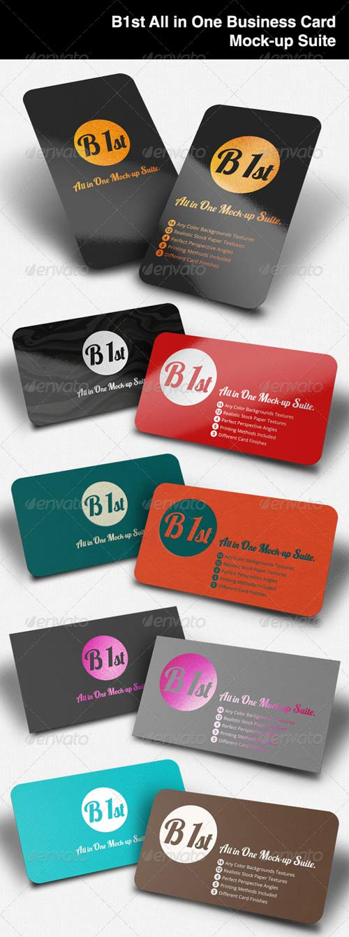 GraphicRiver All In One Business Card Mock-Up
