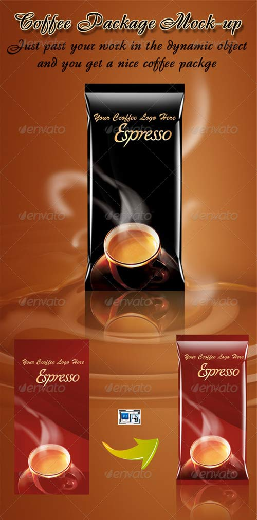 GraphicRiver Coffee Package Mock-up