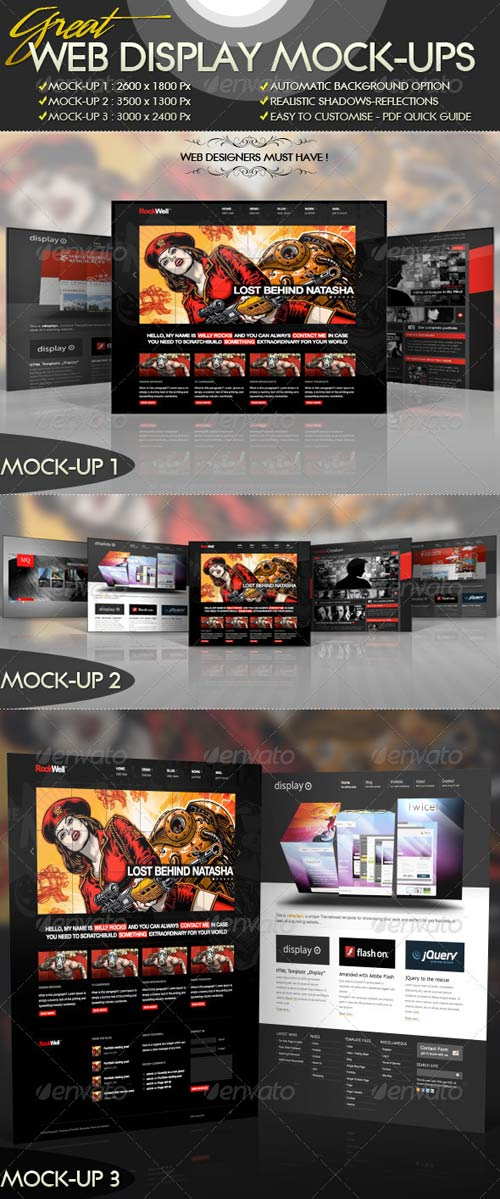 GraphicRiver Great Web Display Mock-Ups