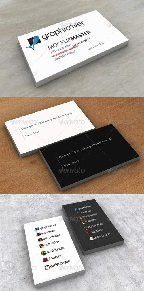 GraphicRiver Mock-up Master Ultimate - Business cards