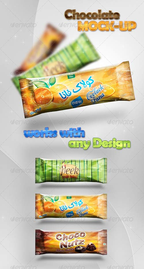 GraphicRiver Chocolate/Candy Bar Mock-Up Design Preview