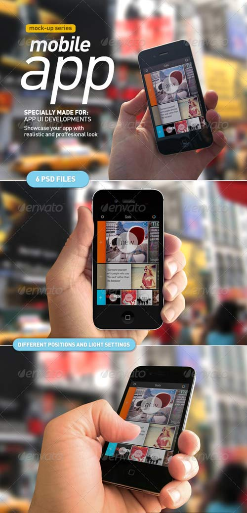 GraphicRiver Device Holding | Mobile App UI Mock Up