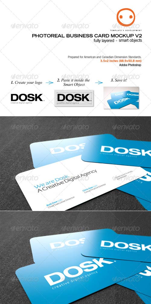 GraphicRiver Photoreal Business Card Mockup V2