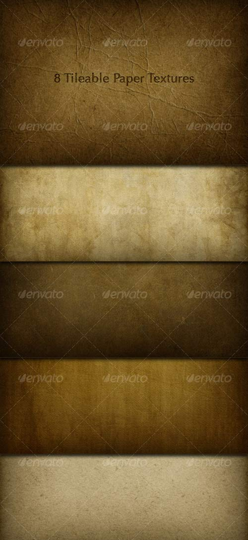 GraphicRiver 8 Tileable Paper Texture Photoshop Patterns