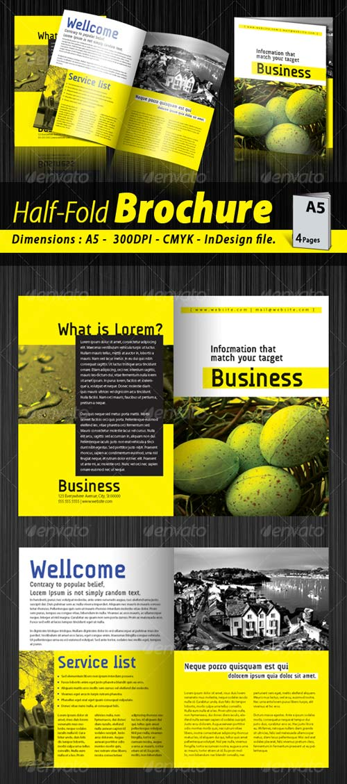 GraphicRiver A5 Half-fold corporate brochure [4 pages]