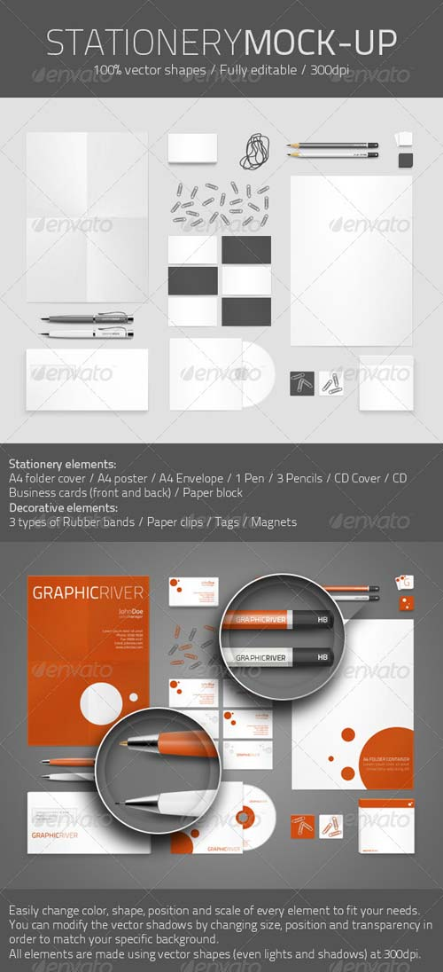 GraphicRiver Identity and Stationery Mock-up