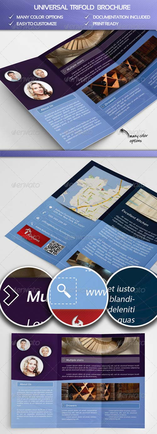 GraphicRiver Universal Trifold Brochure