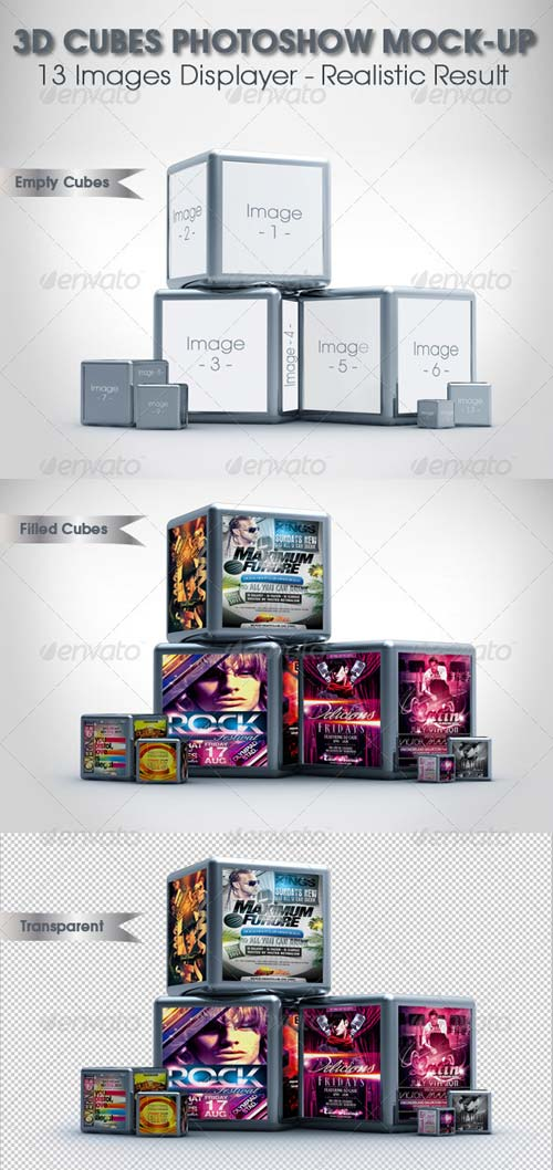 GraphicRiver 3D Cubes Photoshow Mock-up
