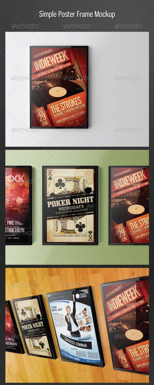 GraphicRiver Simple Poster Frame Mockup