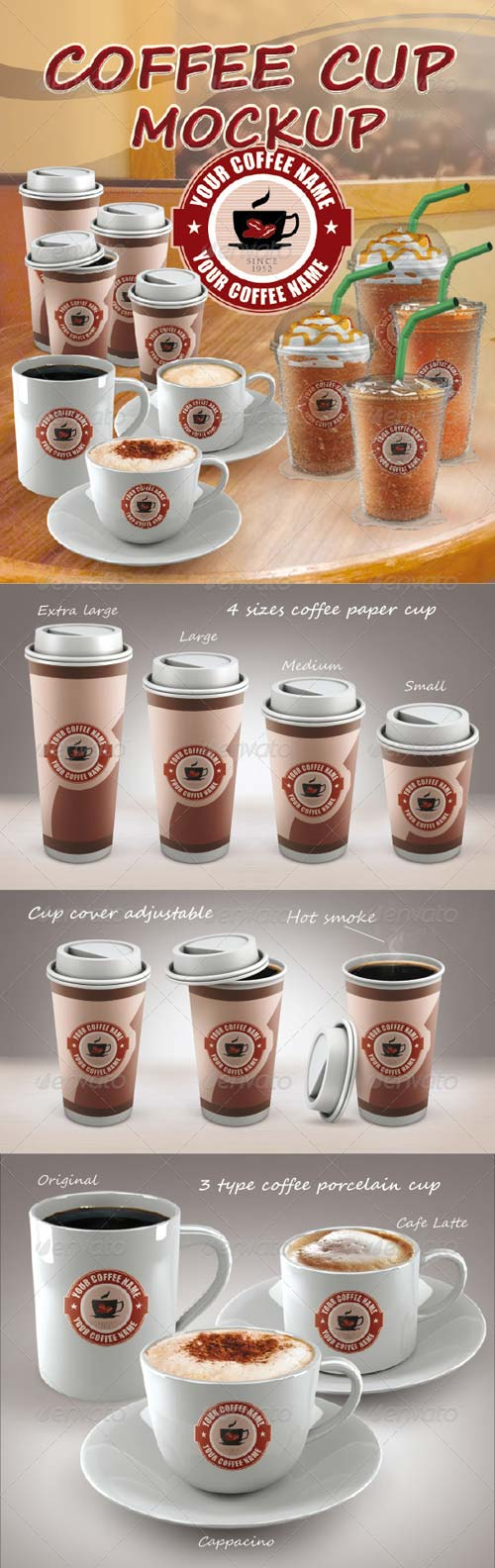 GraphicRiver COFFEE CUP MOCKUP