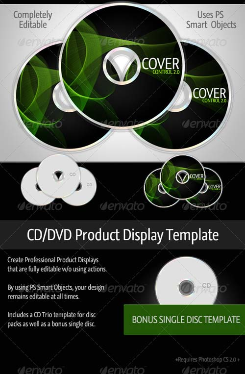 GraphicRiver Cover Control CD/DVD Product Template