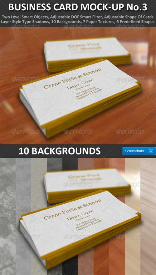 GraphicRiver Business Card Mock-Up No.3