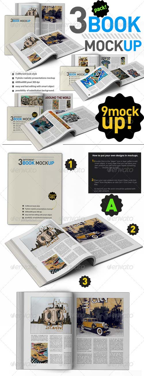 GraphicRiver Book Mock Up Pack