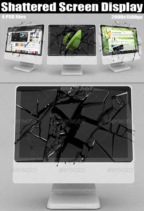 GraphicRiver Shattered Screen Display
