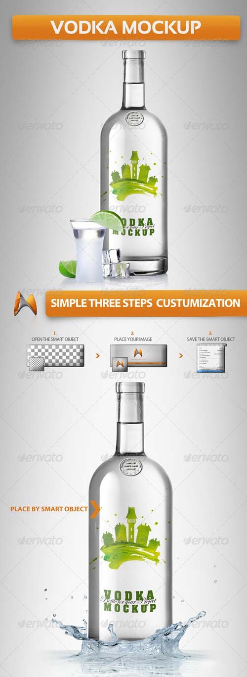 GraphicRiver Vodka Mockup