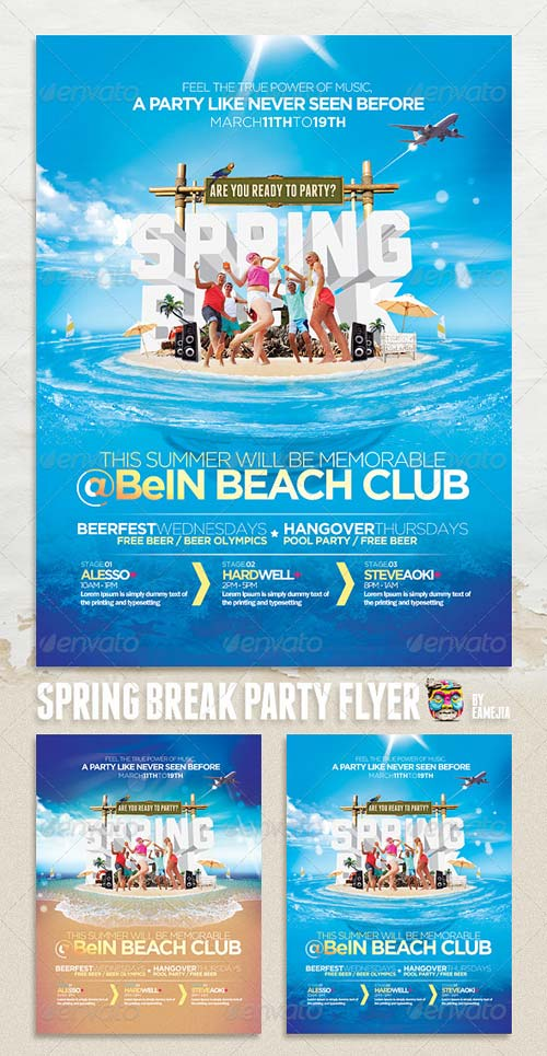 GraphicRiver Spring Break & Summer Party Flyer