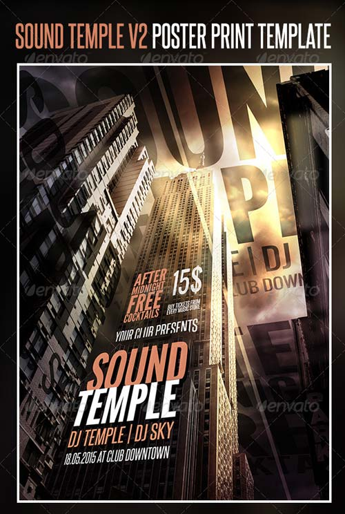 GraphicRiver Sound Temple V2 Poster Print Template