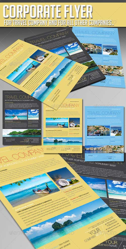 GraphicRiver Corporate Flyer - Travel Company