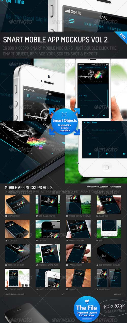 GraphicRiver Smart Mobile App Mockups Vol 2.