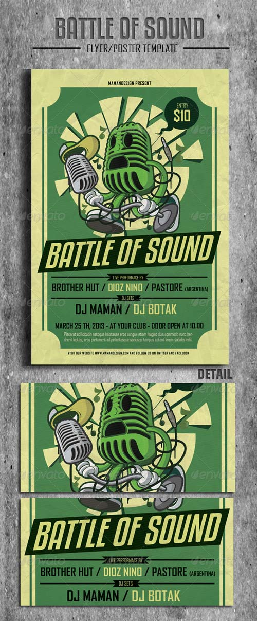 GraphicRiver Battle of Sound Flyer/Poster