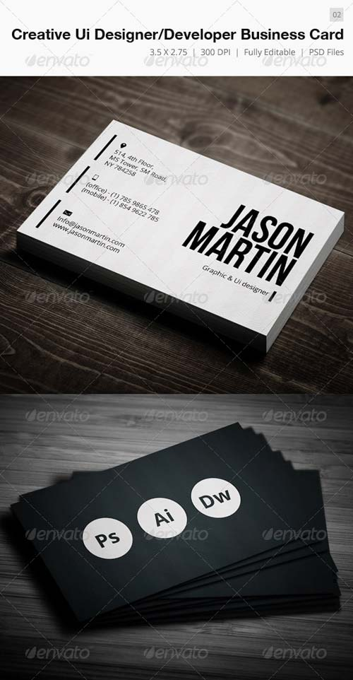 GraphicRiver Creative Designer-Developer Business Card - 02
