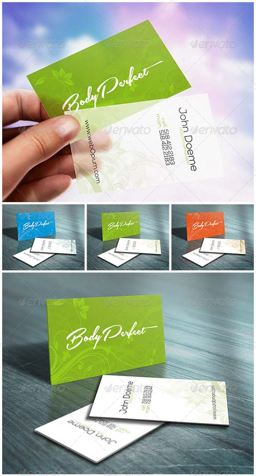 GraphicRiver Wild Flower Business Card - Restaurant & Beauty SPA