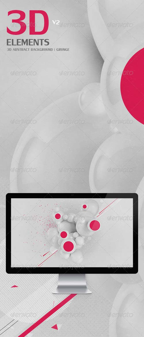 GraphicRiver 3D Abstract Background | Grunge | V2