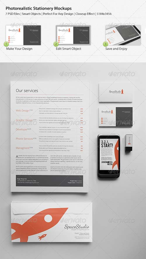 GraphicRiver Photo Realistic Stationary/Brand Identity Mockups
