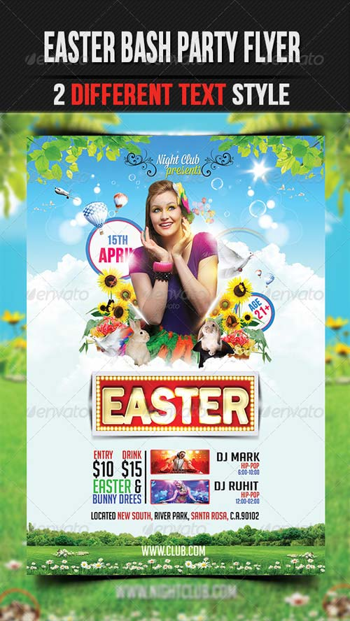 GraphicRiver Easter Party Flyer Template 4214541