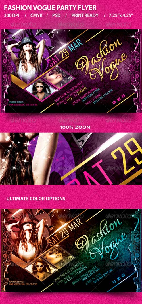 GraphicRiver Fashion Vogue Party Flyer