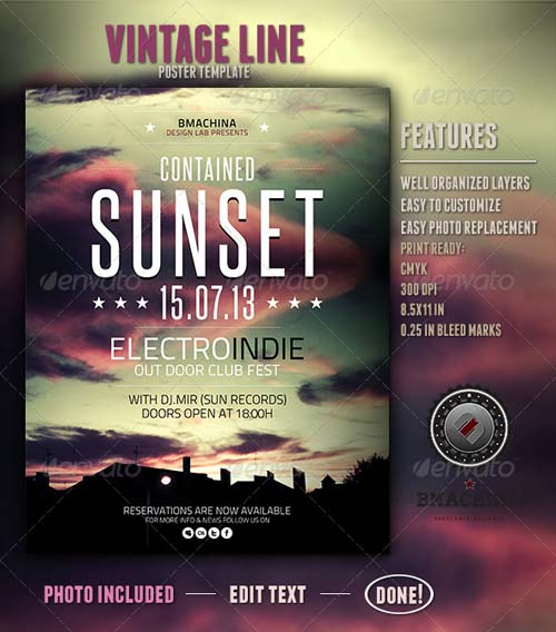 GraphicRiver Indie Poster Template - Contained Sunset