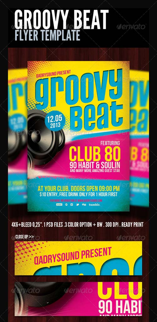 GraphicRiver Groovy Flyer/Poster Template