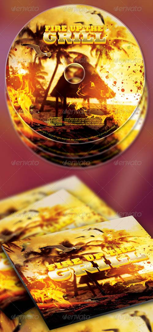 GraphicRiver Fire Up The Grill CD Artwork Template