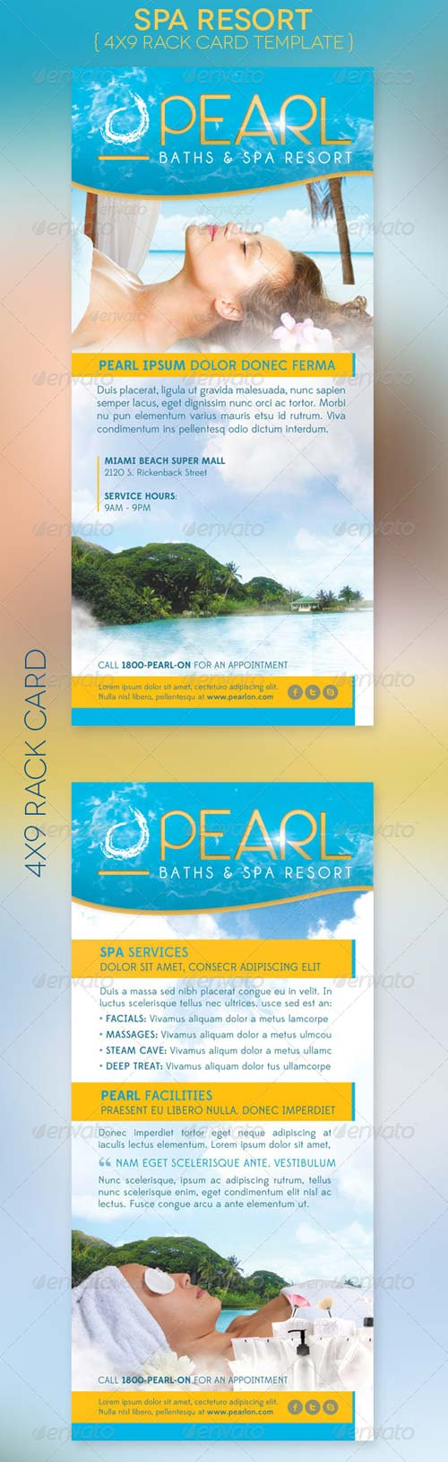 GraphicRiver Spa Resort Rack Card Template