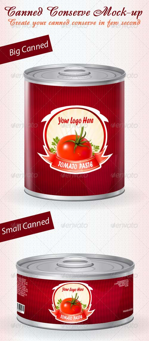 GraphicRiver Canned Conserve Mock-up