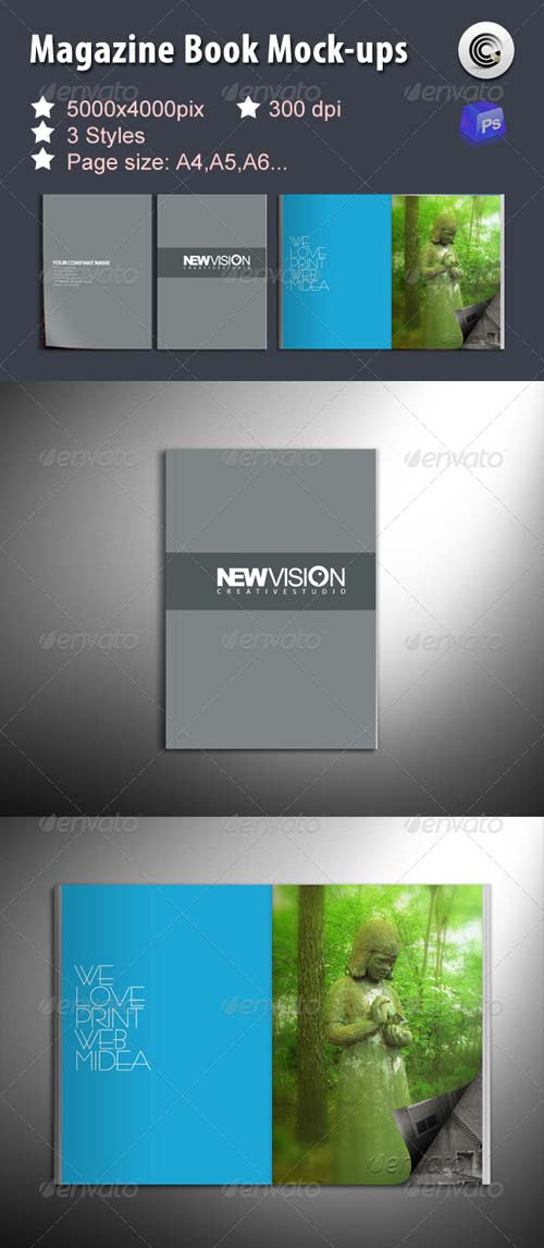 GraphicRiver Magazine Book Mock-ups