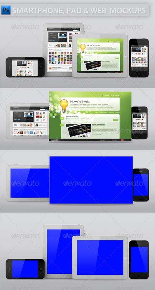 GraphicRiver Smartphone and Tablet Web Display Mockup