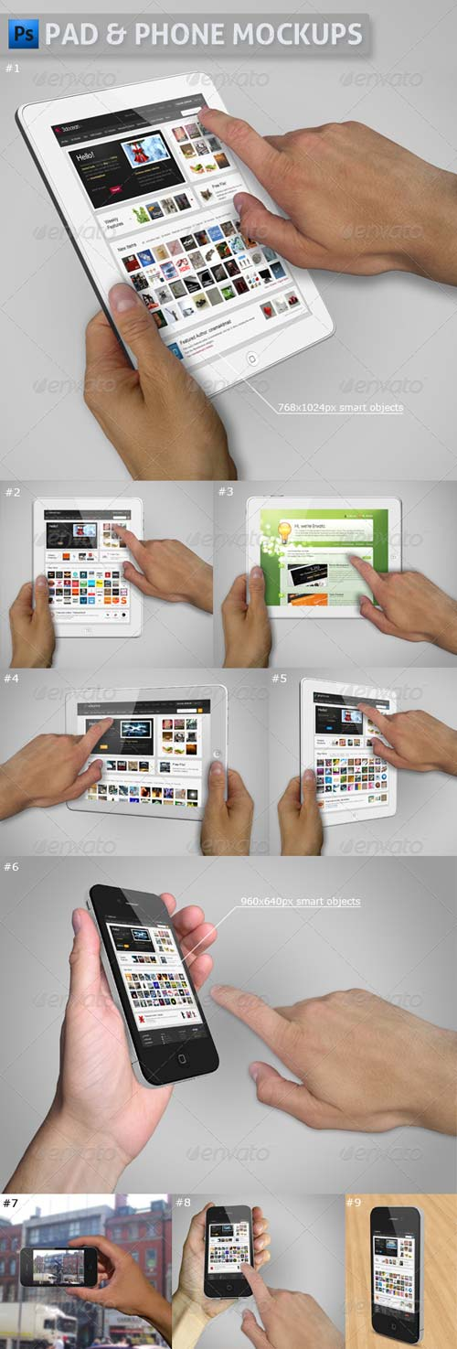 GraphicRiver Pad and Phone Mockup Bundle