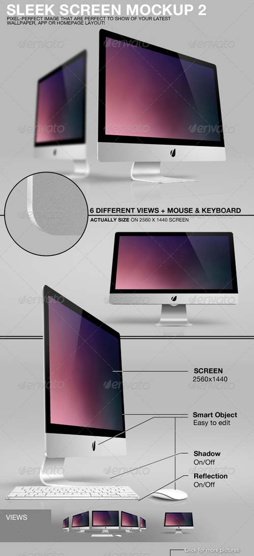 GraphicRiver Sleek Screen Mockup 2