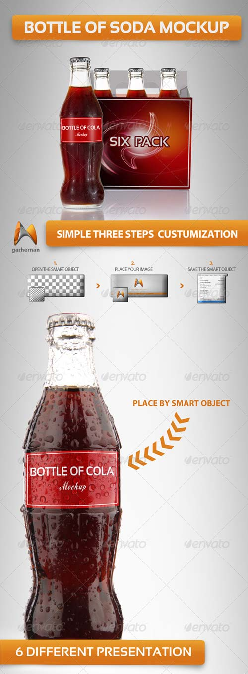 GraphicRiver Bottle Cola Mockup