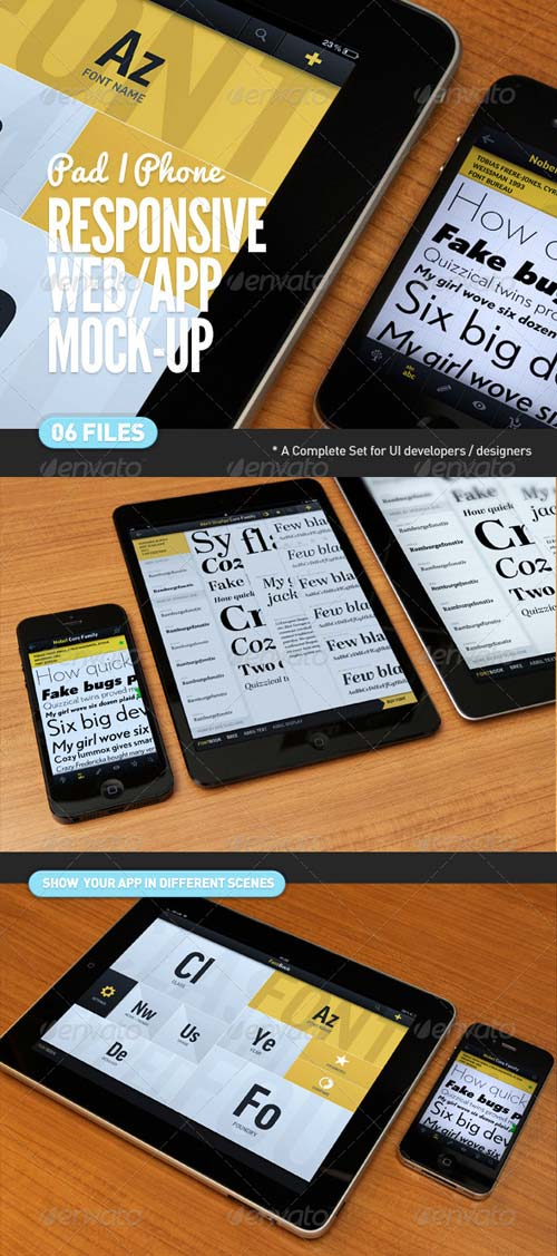 GraphicRiver Responsive Screen Web | App Mock-Up