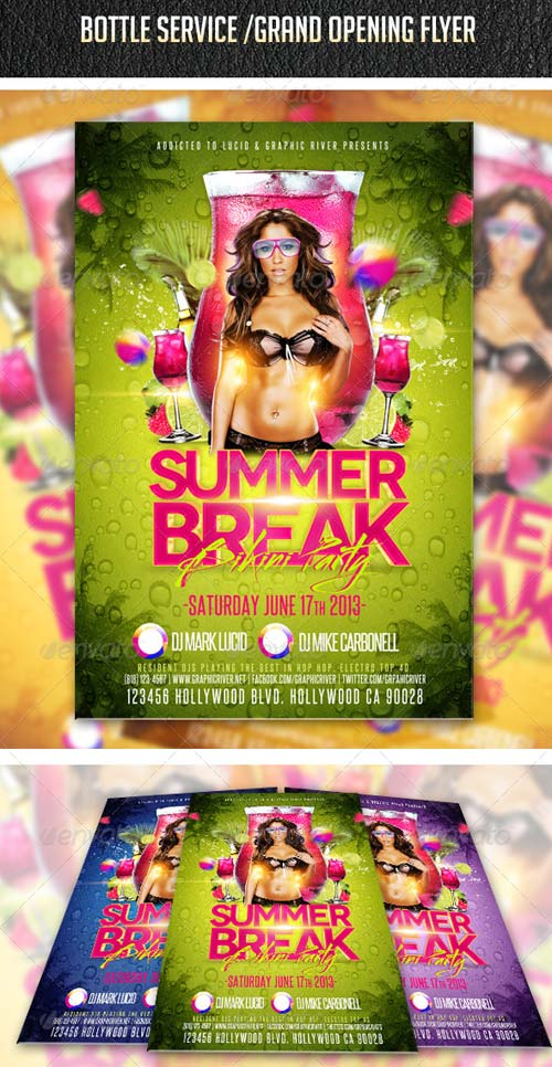 GraphicRiver Summer Break Bikini Party Flyer