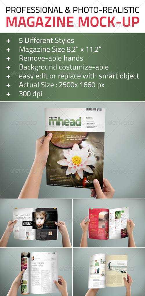 GraphicRiver Professional & Photo-Realistic Magazine Mock Ups