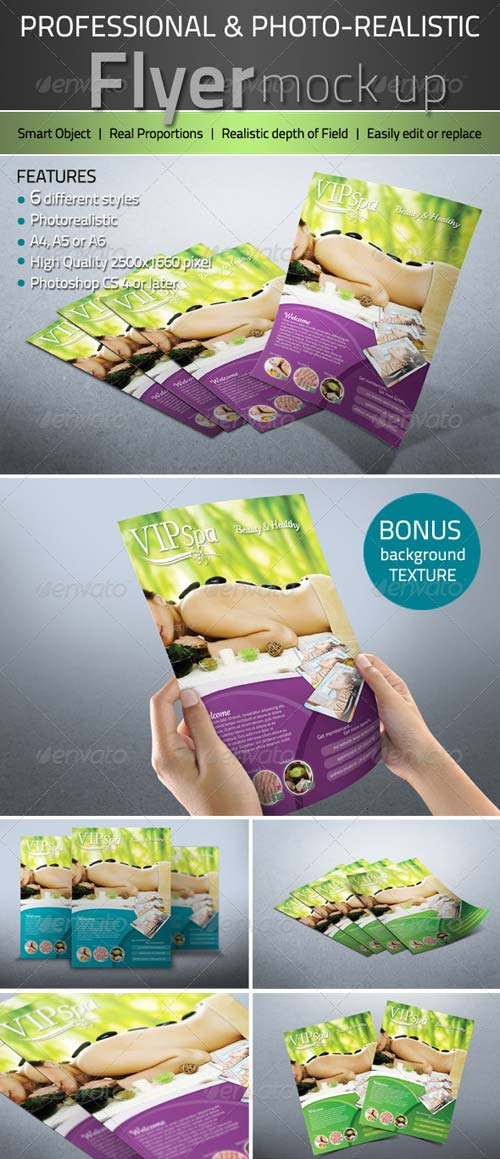 GraphicRiver Professional Photorealistic Flyer mock up