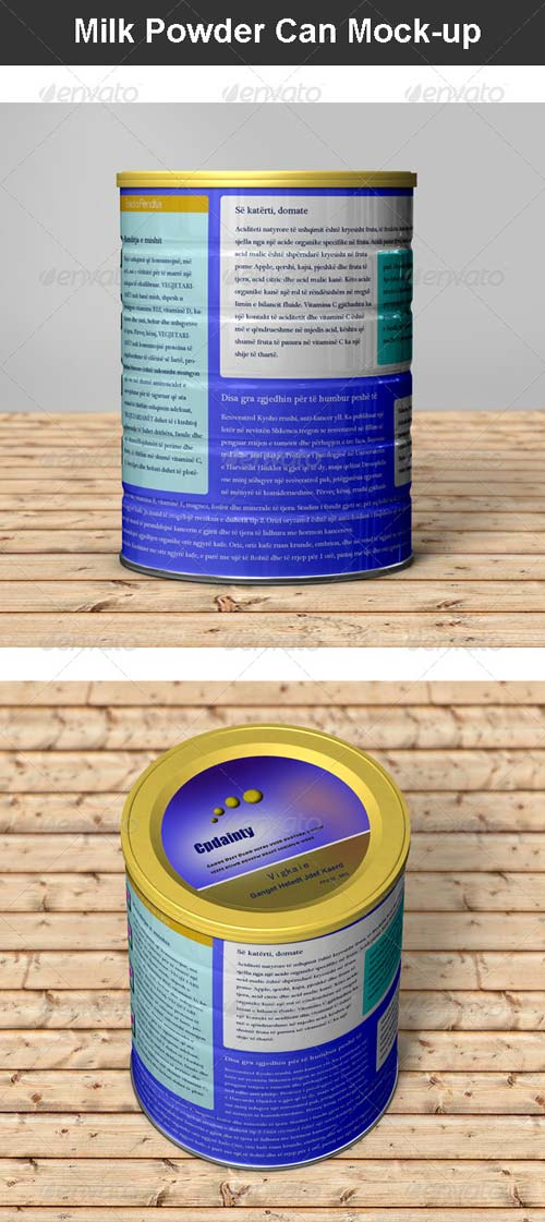 GraphicRiver Milk Powder Can Mock-up