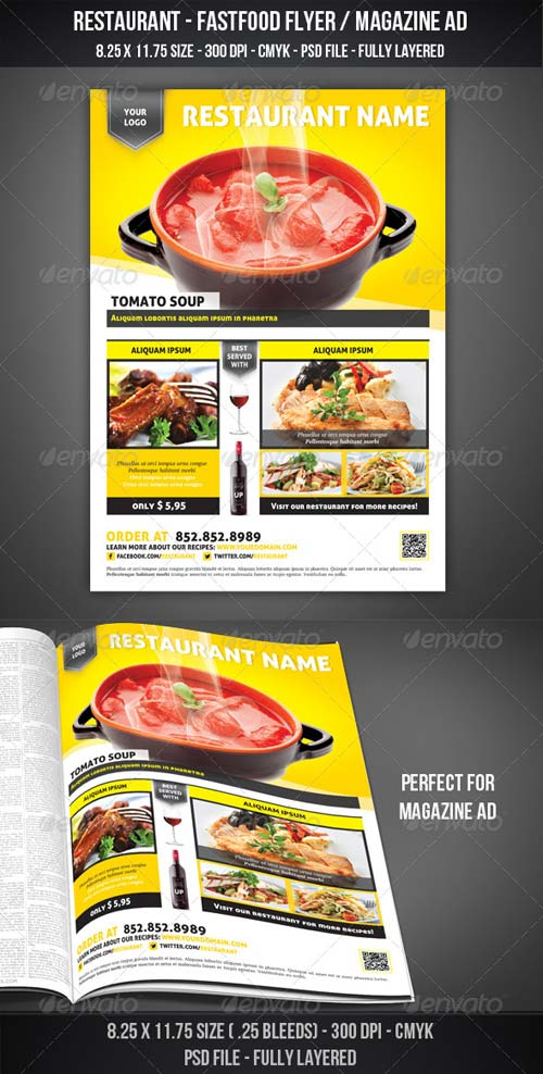 GraphicRiver Restaurant - Fastfood Flyer / Magazine AD