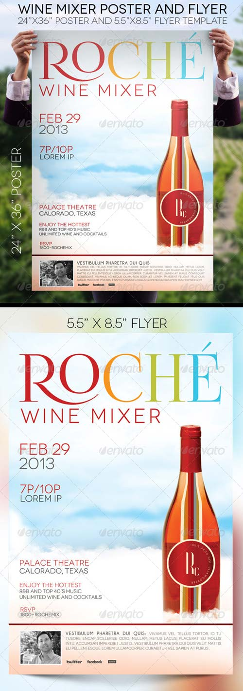 GraphicRiver Wine Mixer Poster and Flyer Template